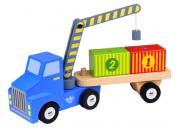 Wooden Container Crane Truck