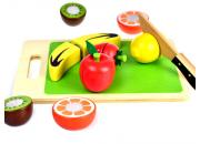 Wooden Fruit Cutting Set