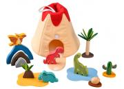 Wooden Dinosaur Playset