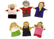 Wooden Finger Puppets Family