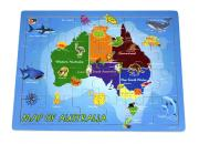 wooden jigsaw puzzle australia map