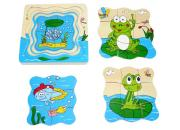 Wooden Layer Puzzle Tadpole Frog