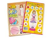 wooden magnetic dress up girl