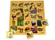 Wooden Matching Animal with Skin Puzzle