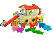 wooden noahs ark playset