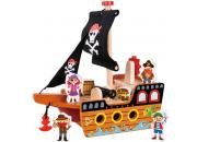 Wooden Pirate Ship Toy