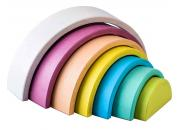 Wooden Rainbow Nesting Stacker