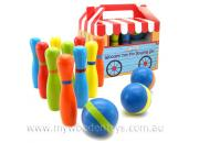 wooden ten pin bowling set boxed