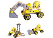 Wooden Toy Construction Set Trucks