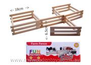 Wooden Toy Hinged Farm Fence