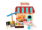wooden toy shop playset