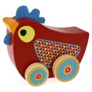 Wooden Walking Music Box Chicken