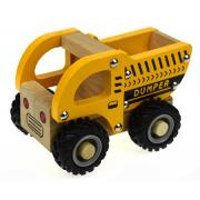 Wooden Dump Truck Rubber Wheels