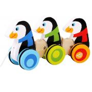 Pull Along Wooden Wobbly Penguins