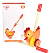 Wooden Push Along Chicken
