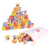 Alphabet Number Wooden ABC Blocks