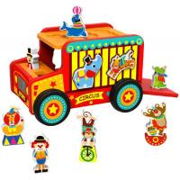Circus Bus Wooden Shape Sorter