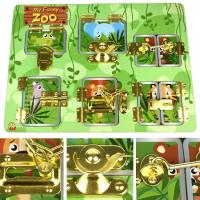 Lock & Latch Wooden Puzzle Board Zoo