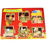 Lock & Latch Wooden Puzzle Board Farm