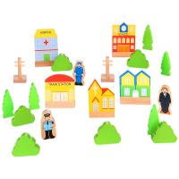 Mini Wooden Town Playset