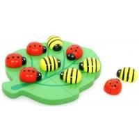 Wooden Naughts & Crosses Ladybug & Bee