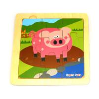 Simple Nine Piece Piggy Puzzle