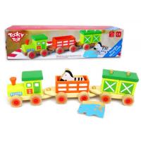Wooden Animal Block Stacking Train