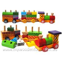 Block Stacking Push Along Train