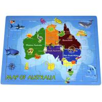 Wooden Jigsaw Puzzle Map of Australia