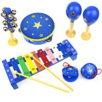 Wooden 7pcs Music Set Stars