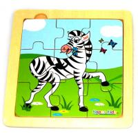 Simple Nine Piece Zebra Puzzle