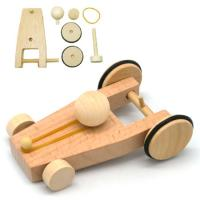 Rubber Band Powered Wooden Car Kit