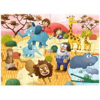 Wooden Safari Puzzle 24 Pieces