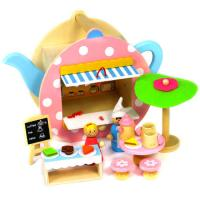 Wooden Teapot Cafe Play Set