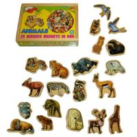 Magnetic Wooden Animal Shapes