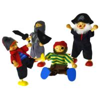 Wooden Toy Pirate Dolls