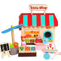 Wooden Toy Shop Grocery Store