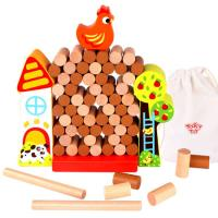 Wooden Tumble Chicken Game